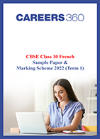 CBSE Class 10 French Sample Paper & Marking Scheme 2022 (Term 1)