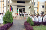 Florence International School-Campus-View front with celebration