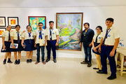 Pailan World School-Art exhibition