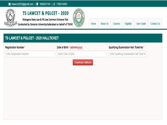 TS LawCET, PGLCET 2020 Hall Ticket Released At Tsche.ac.in, Exam On October 9