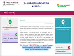 AISSEE 2021: Sainik School Admission Process Starts Today At Aissee.nta.nic.in