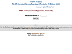 Calcutta University BA, BSc First Semester Result Announced, Direct Link Here