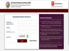 JoSAA 4th Seat Allotment Result 2020 Announced; Here's Direct Link