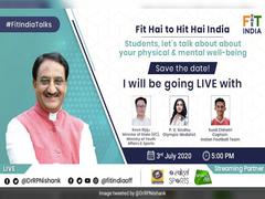Education Minister To Inaugurate #FitIndiaTalks Series Tomorrow