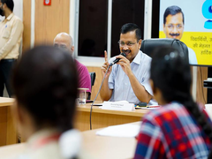 Top Scorers Of Delhi Government Schools In Class 12 Board Meet Chief Minister Arvind Kejriwal