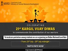 Education Ministry Announces 'Kargil Vijay Diwas' Quiz For Students