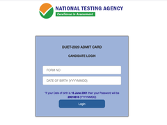 DUET 2020 Admit Card Released At Ntaexam2020.cbtexam.in, Download Using Direct Link