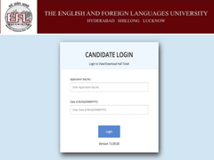 EFLU Admit Card 2020 Released For UG Courses At Efluniversity.ac.in, Details Here