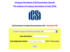 ICSI CS Foundation Result Announced At Icsi.edu; Here's How To Check