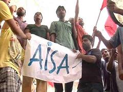 AISA, NSUI Protest Against DU Professor's 'Marks Jihad' Remark