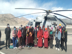 IAF Airlifts Students To Leh As Academic Session Recommences