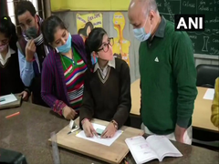 Manish Sisodia Interacts With Students After Delhi Schools Reopen For Classes 9, 11