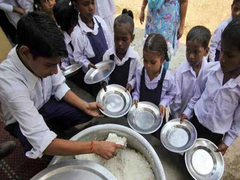 Puducherry LG Visits Government School, Partakes Food Served As Part Of Noon Meal Scheme