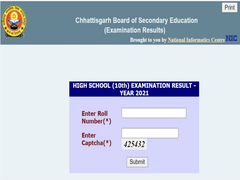 Chhattisgarh Class 10 Result Announced, 96.81% Students Secure First Division