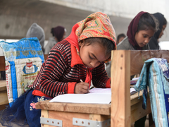 Retired Teacher Educates Slum Children In Jammu, Teaches Through Makeshift School