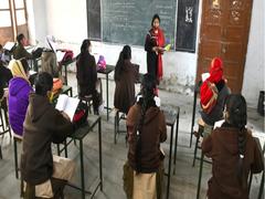 Chatter Fills Hallways, Classrooms As Overjoyed Students Return To Delhi Schools