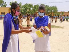First Day Of Karnataka Class 10 SSLC Exam Held Today With Covid Precautions