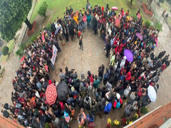 Students Protest In Jammu For More Seats In Cluster University