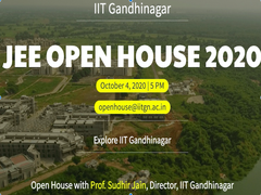 JEE Advanced 2020: IIT Gandhinagar To Host Live JEE Open House Session