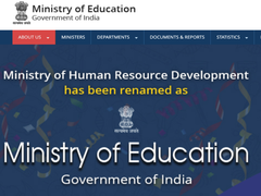 "HRD Ministry Renamed ""Ministry Of Education""; Website, Social Media Show Change"