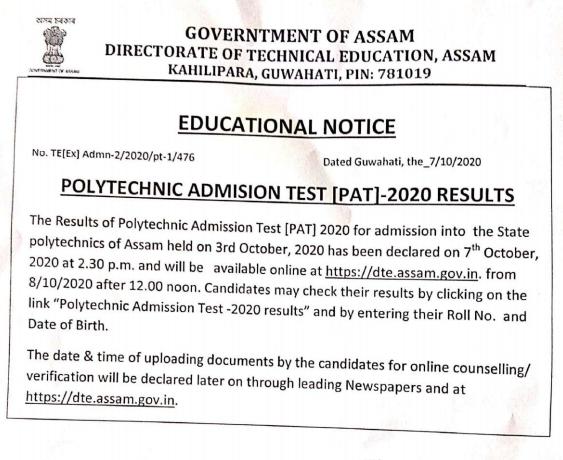 assam-pat-result-notification
