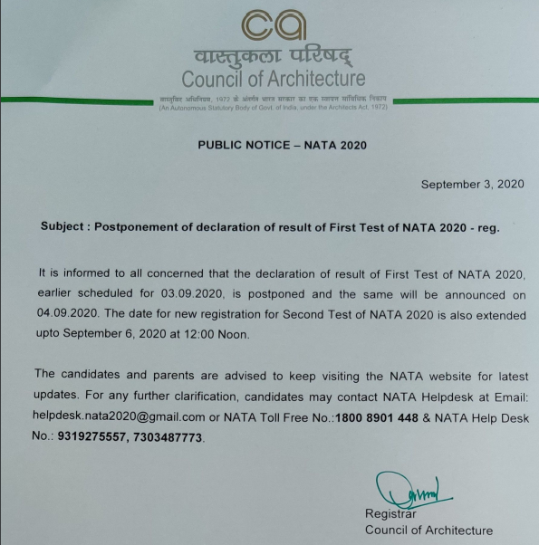 nata-result-delay-notice