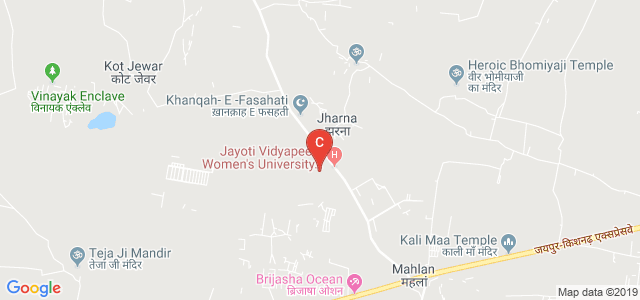 Jayoti Vidyapeeth Women's University, Jaipur, Ajmer-Jaipur Expressway, Vedant Gyan Velly, Jharna, Rajasthan, India
