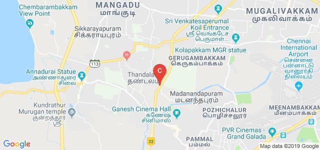 Service Rd, Sadanandapuram, Thandalam, Tamil Nadu, India