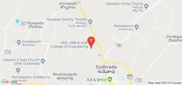 V.K.R, V.N.B & A.G.K College Of Engineering, Eluru Rd, Gudivada, Krishna, Andhra Pradesh, India