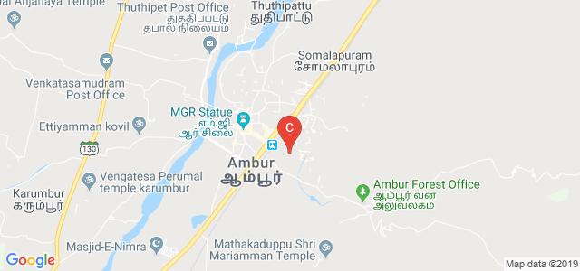 Mazharul Uloom College, Gandhi Nagar, Ambur Plantation R.F., Ambur, Tamil Nadu, India