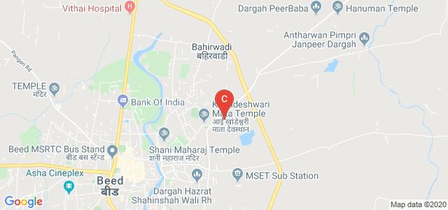 Government Polytechnic, Beed, Nathapur Rd, Near khandeshwari temple, Vipra Nagar, Beed, Maharashtra, India