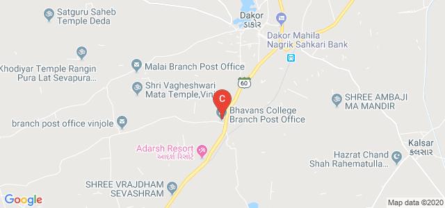 Bhavan's Shri I.L. Pandya Arts, Science And Jashodaben Shah Commerce College, Umreth Rd, Dakor, Gujarat, India
