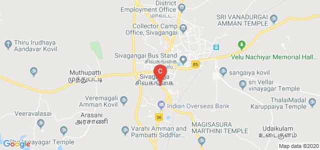 Raja Doraisingam Government Arts College, Sivagangai, Manamadurai - Tanjavur Road, Rajaduraisingham, Sivaganga, Tamil Nadu, India
