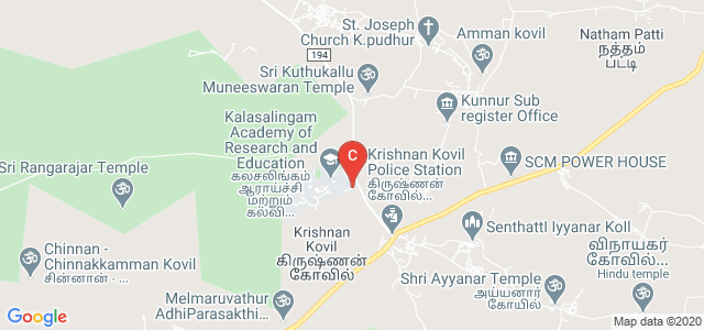 Kalasalingam Institute of Technology, Krishnankoil, Tamil Nadu, India