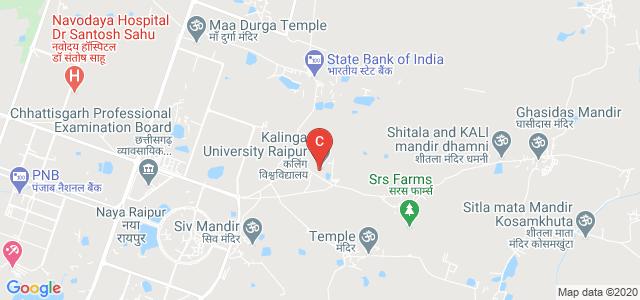 Kalinga University Raipur, near Mantralaya, Naya Raipur, Chhattisgarh, India