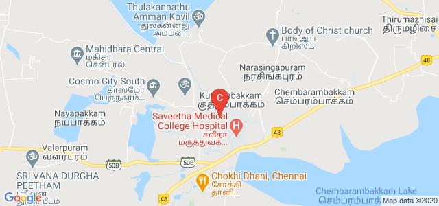 Saveetha Engineering College, Chennai, Tamil Nadu, India