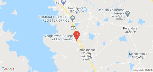 Vaageswari College of Engineering, Karimnagar, Telangana, India