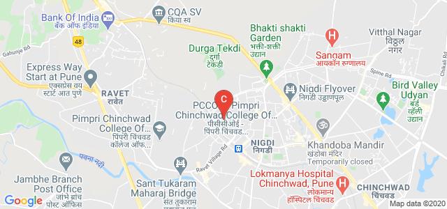 Pimpri Chinchawad College Of Engineering. PCCOE, Akurdi Railway Station Road, Sector No. 26, Pradhikaran, Nigdi, Pimpri-Chinchwad, Maharashtra, India