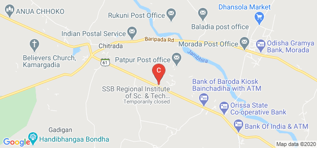 SSB Regional Institute of Sc. & Tech. Chitrada, 757018, State Highway 61, Jamugadia, Odisha, India