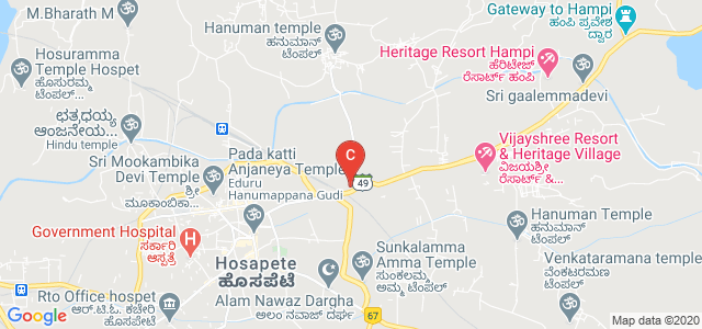 Hampi road, SH 49, Hosapete, Karnataka 583201, India