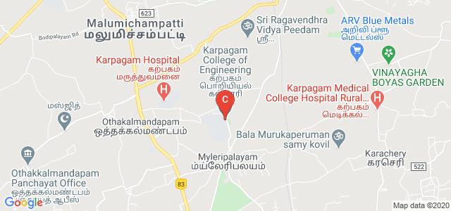 Karpagam College of Engineering, Mayileripalayam, Coimbatore, Tamil Nadu, India