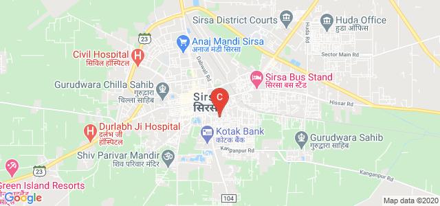 Shah Satnam Ji PG Girls' College, Begu Road, Agrasain Colony, Sirsa, Haryana, India