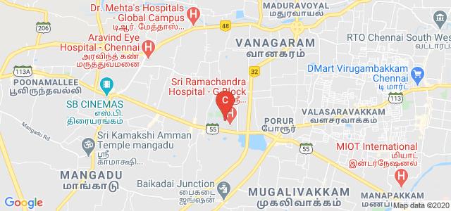 Sri Ramachandra Institute of Higher Education and Research, Ramachandra Nagar, Sri Ramachandra Nagar, Porur, Chennai, Tamil Nadu, India