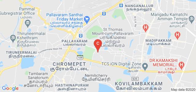 Vels Institute of Science, Technology & Advanced Studies, PV Vaithiyalingam Rd, Velan Nagar, Krishnapuram, Pallavaram, Chennai, Tamil Nadu, India