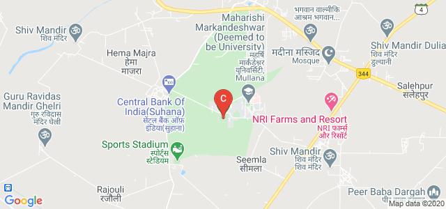 Maharishi Markandeshwar (Deemed to be University), Ambala, Haryana, India