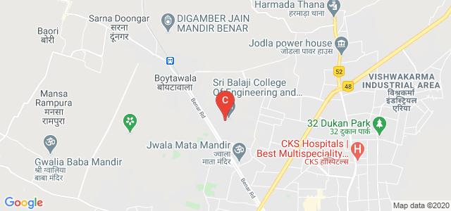 Sri Balaji College of Pharmacy, Jaipur, Benar Road, Shankar Vihar Extension, Jamna Puri, Jaipur, Rajasthan, India
