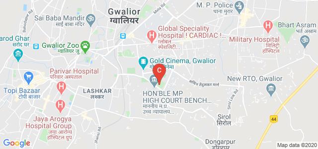 Jiwaji University : School Of Studies In Pharmaceutical Sciences, Sirol Rd, City Center, Near, Mahalgaon, Gwalior, Madhya Pradesh, India