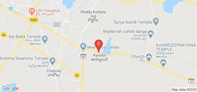 518503, Kurnool - Ongole Main Road, Ayyalur, Andhra Pradesh, India