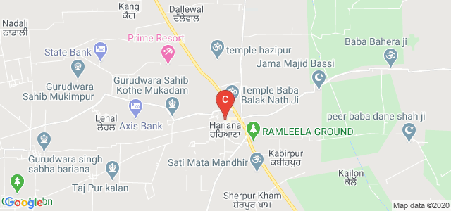 Hariana, Hoshiarpur, Punjab 144208, India
