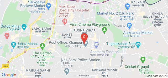Delhi Pharmaceutical Sciences and Research University, Mehrauli - Badarpur Road, Sector 3, Pushp Vihar, New Delhi, Delhi, India